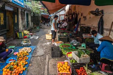 good morning Vietnam - morning market Hanoi by Rikitza