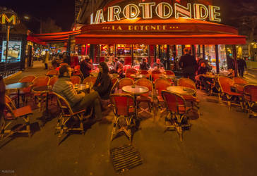 Paris the city of lights - evening at La Rotonde by Rikitza