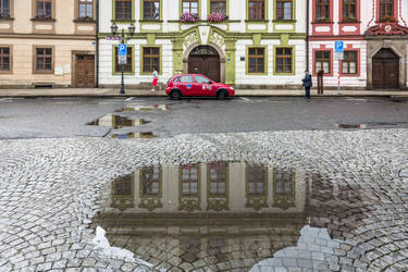 Czech paradise - urban view after rain by Rikitza