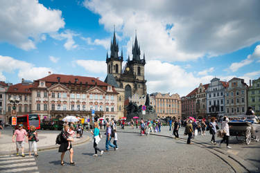 Czech paradise - Prague medieval square once more by Rikitza