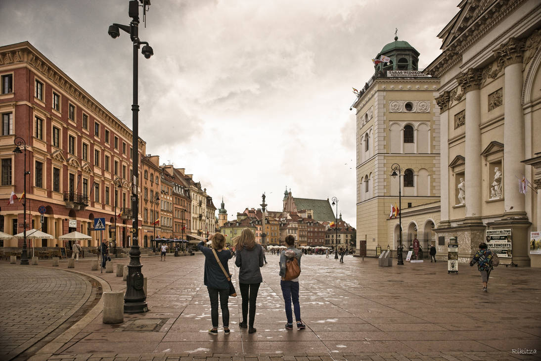 three graces exploring Warsaw by Rikitza