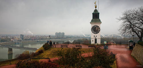 Heroic Serbia - smoke and tower over Novisad by Rikitza