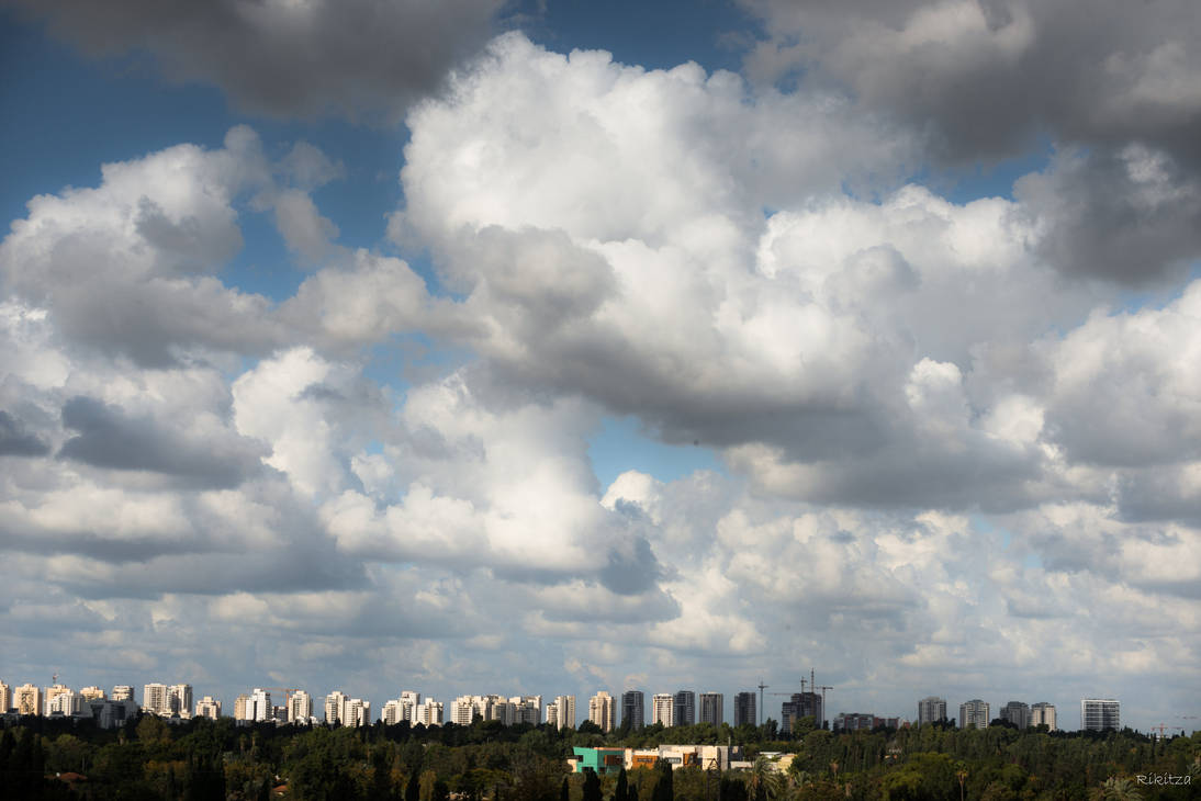 always Tel Aviv - sky from my window by Rikitza
