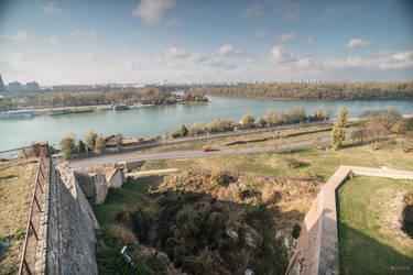 heroic Serbia - Danube and Sava confluence by Rikitza