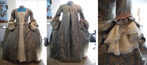 Finished Rococo Gown by MistyKat