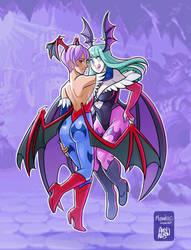 OI: Halloween Contest Sexy Duo - Darkstalkers by greyallison