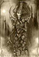 Dark Eldar Archon by ranin