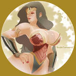 Busty Wonder Woman by TamoeRae