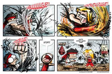 Street Fighter 4 strip by ivanev
