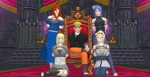 Naruto, Hokage and King by 4wearemanytoo