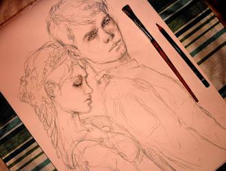 Hansel and Gretel sketch by pannka144