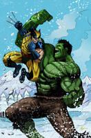 Wolverine versus Hulk by irongiant775