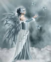 Lady in blue by Michka2