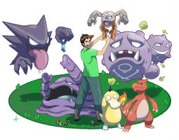 Pokemon Team Joffroy by SeiKyo-Art