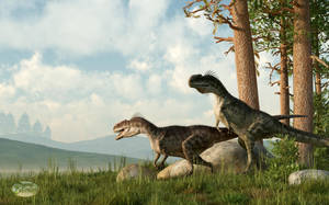 Monolophosaurs on the Hunt by deskridge