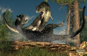 Carnotaurus Fight by deskridge