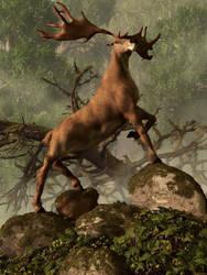 The Irish Elk by deskridge