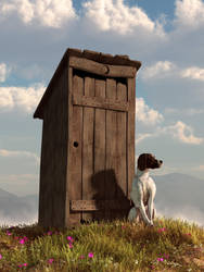 Outhouse Guardian by deskridge