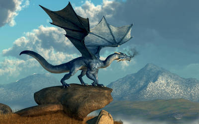 Blue Dragon by deskridge