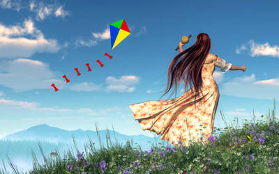 Flying a Kite by deskridge