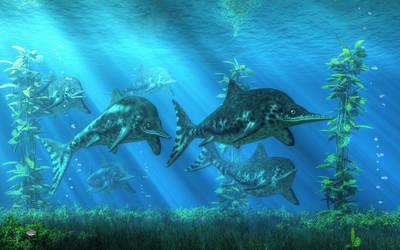 Ichthyosaurs by deskridge