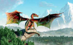 Perched Dragon by deskridge