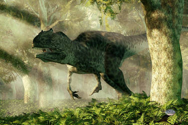 Allosaurus In A Forest by deskridge