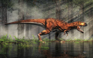 T-Rex in a Flooded Forest by deskridge