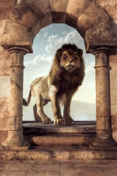 Door to the Lion's Kingdom by deskridge