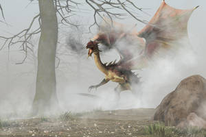 Dragon Roadblock by deskridge