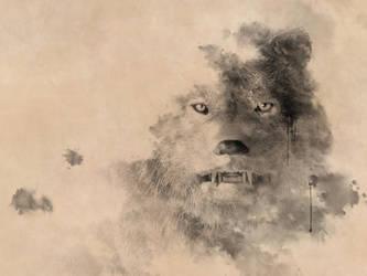 Ink Wolf by deskridge