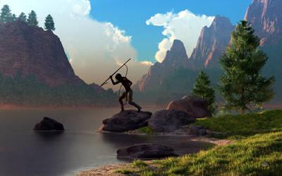 The Spear Fisher by deskridge