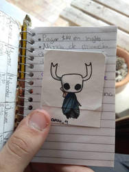small hollow knight in a small notebook by Dafax4