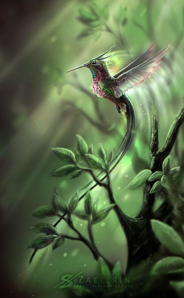 Hummingbird Fairy. by Zaellrin