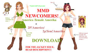 MMD Newcomer - Americo + 2P!Americo by WundervolleWelt