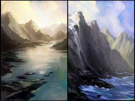 mountains and sea by Ketka