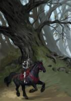 Black horse by Ketka