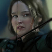 Katniss Everdeen - study portrait by Ketka