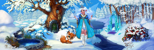 Winter Fairy my little fox - menu by Ketka