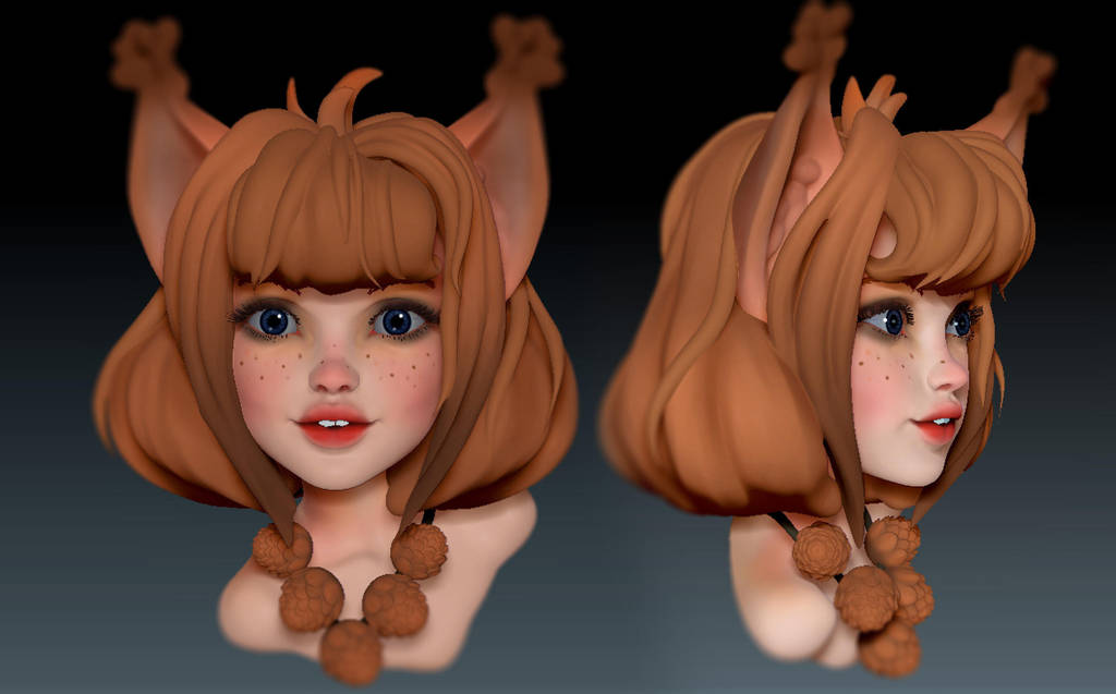 little squirrel. wip by Ketka