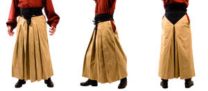 Tan and Black Hakama by Lastwear