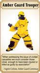 Amber Guard Card by Lastwear