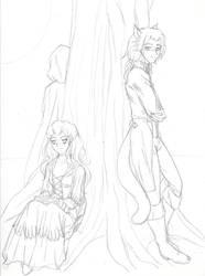 NRFTW Fanart- Sketch by KitsuneKimono