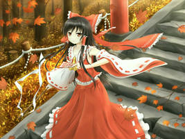Reimu :: Autumn Colors by AsakuraShinji