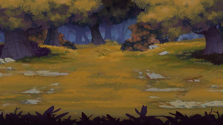 2D forest background by Prohibe