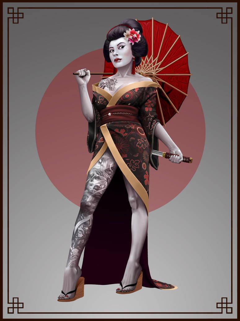 Tattooed Geisha by Prohibe