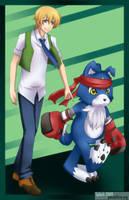 Digimon Savers - Tohma Gaomon by splashgottaito