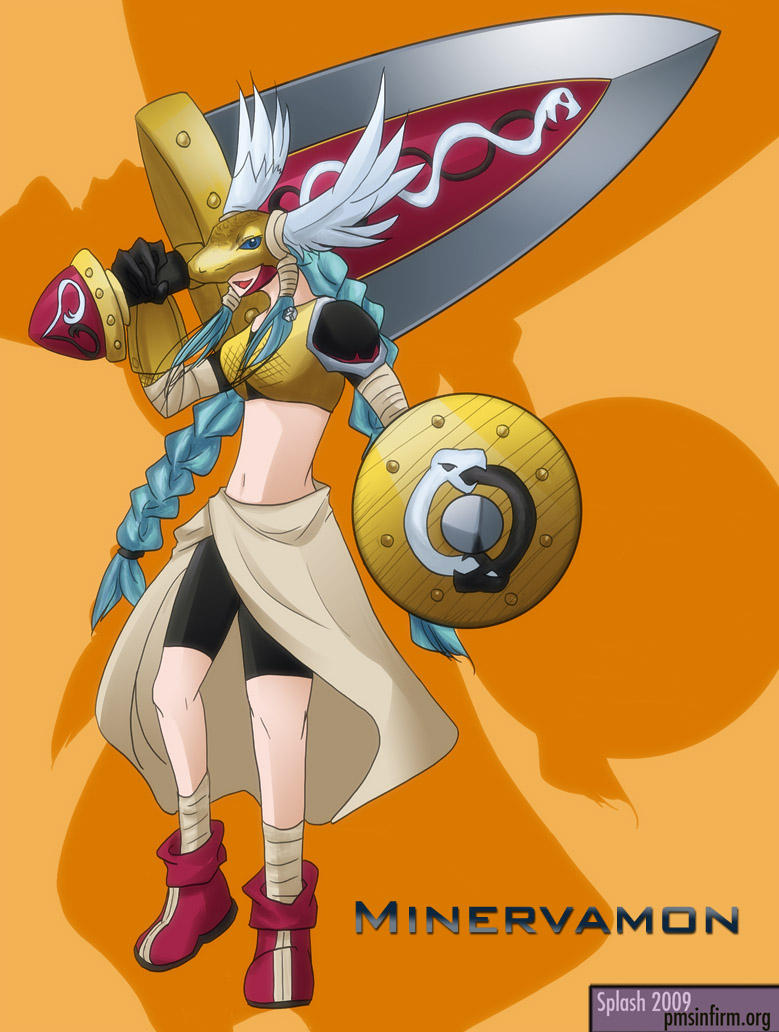 Digimon - Minervamon by splashgottaito