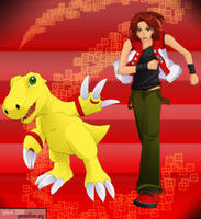 Digimon Savers - MasaruAgumon by splashgottaito