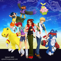 Digimon Savers - Bday 2009 by splashgottaito